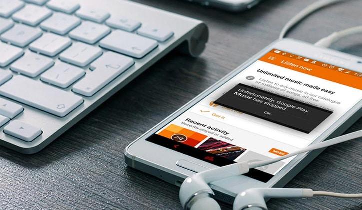 كيفية حل مشكلة توقف تطبيق Google Play Music عن العمل في التحديث الجديد من الأندرويد 1