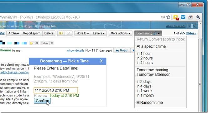 كيفية إرسال و إستلام الرسائل على الـGmail وفقاً لجدول زمني محدد! 1