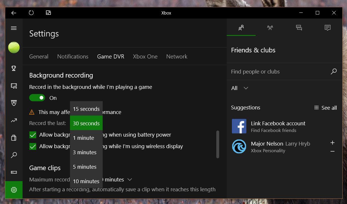كيفية تسجيل فيديوهات الألعاب لمدة أطول بإستخدام GAME DVR في ويندوز 10 4