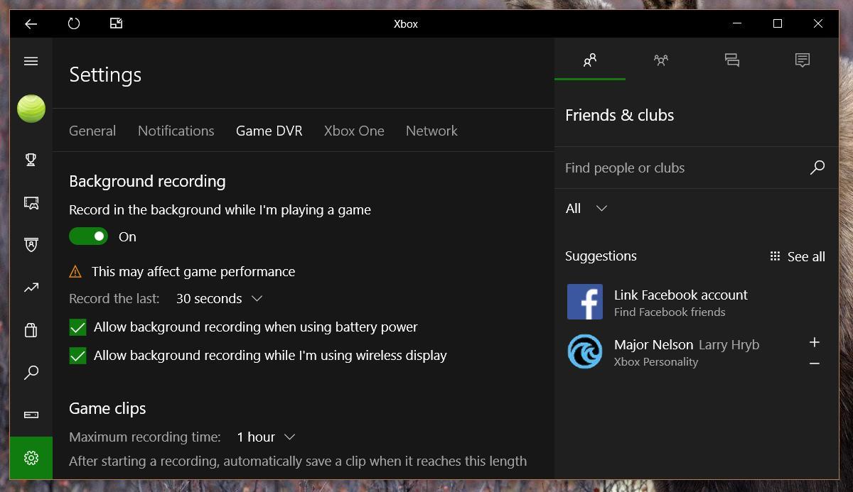 كيفية تسجيل فيديوهات الألعاب لمدة أطول بإستخدام GAME DVR في ويندوز 10 3