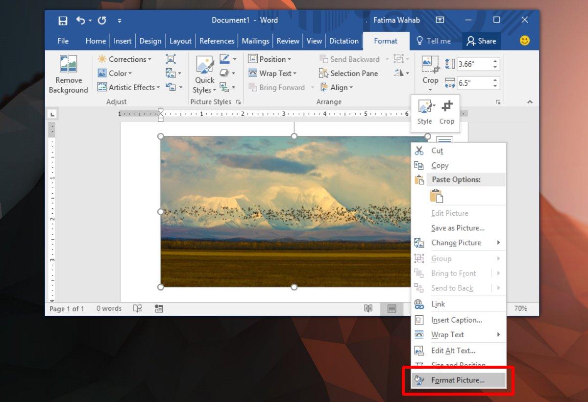 كيفية إضافة الصور و جعلها أكثر وضوحاً في برنامج الوُرد Microsoft Word 1