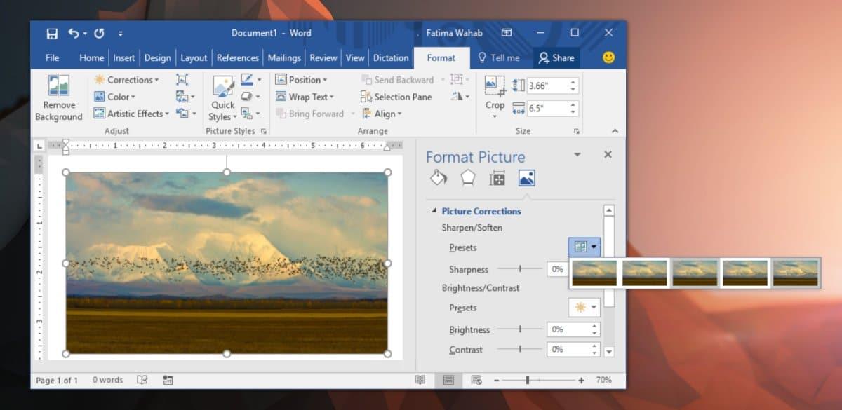 كيفية إضافة الصور و جعلها أكثر وضوحاً في برنامج الوُرد Microsoft Word 3