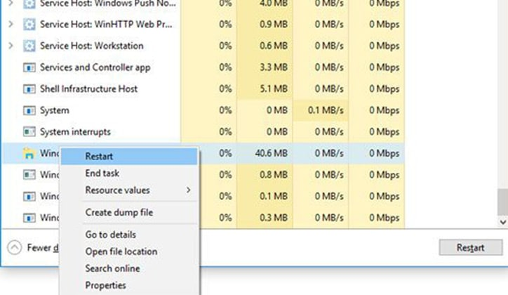 كيفية حل مشكلة توقف شريط البحث Windows Search في ويندوز 10 عن العمل 2