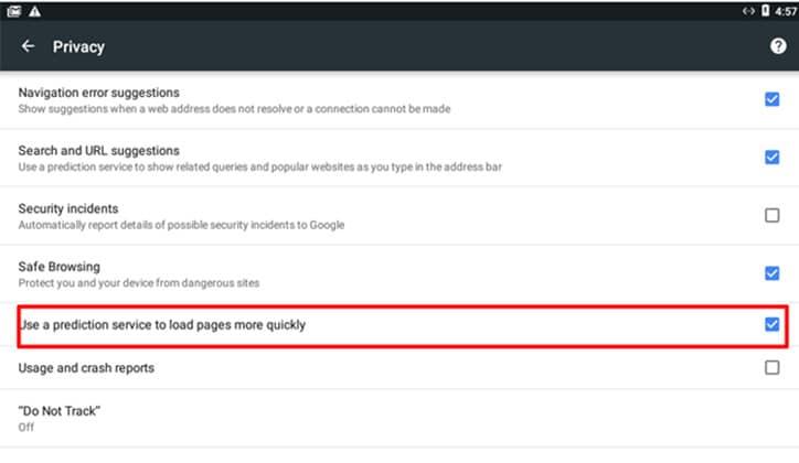 طريقة تسريع متصفح جوجل كروم Google Chrome على أجهزة الأندرويد 4