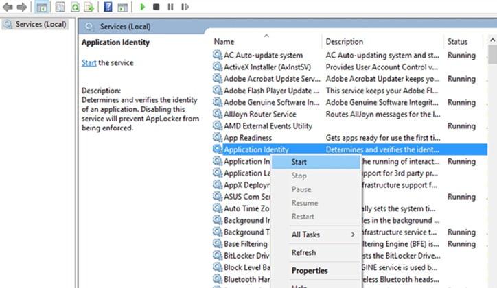 كيفية حل مشكلة توقف قائمة البدء Start Menu عن العمل في ويندوز 10 4