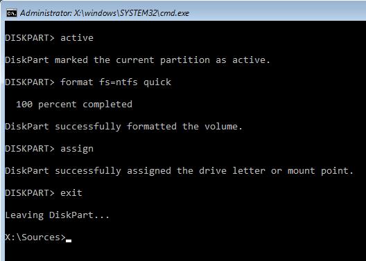 كيفية حل مشكلة We Couldn't Create a New Partition عند تثبيت ويندوز 10 4