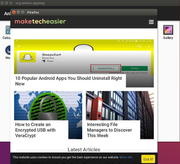 طريقة تشغيل تطبيقات الأندرويد على نظام Ubuntu Linux بإستخدام Anbox 6