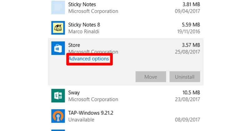 كيفية حل مشكلة توقف متجر الويندوز Windows Store عن العمل 5