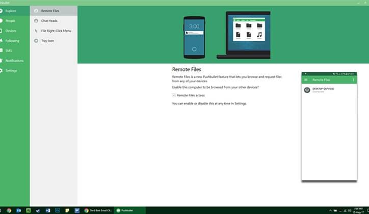 كيفية إرسال الرسائل SMS و الملفات من الكمبيوتر بإستخدام تطبيق Pushbullet 5