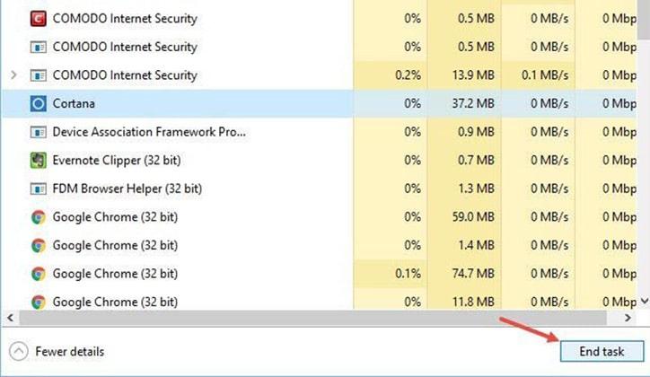 كيفية حل مشكلة توقف شريط البحث Windows Search في ويندوز 10 عن العمل 9
