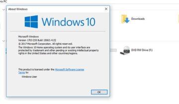 طريقة معرفة رقم الإصدار و بنية الويندوز Windows 10 Build لديك