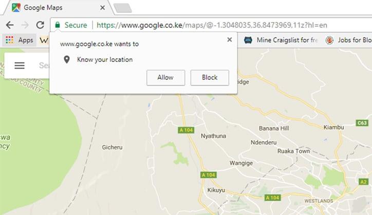 كيفية إيقاف طلب تحديد المكان Location أثناء تصفح المواقع 1