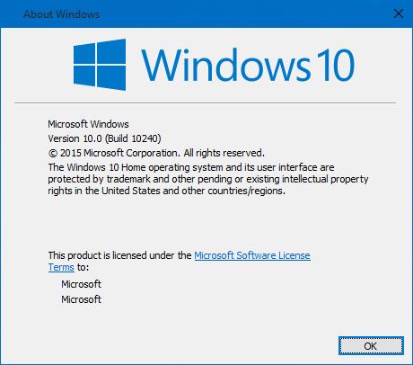 طريقة معرفة رقم الإصدار و بنية الويندوز Windows 10 Build لديك 2