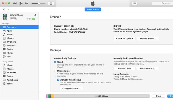 طريقة عمل Backup لأجهزة الأيفون و الأيباد و الأيبود من خلال iTunes و iCloud 3