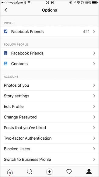 كيفية مسح سجل البحث History في الإنستجرام Instagram 2