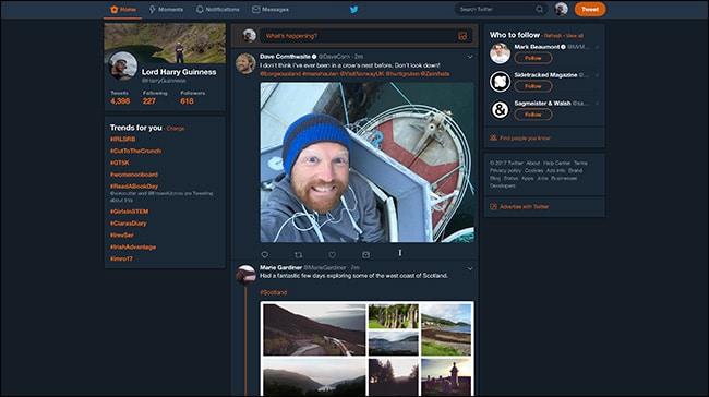 كيفية تشغيل الوضع الليلي في تويتر Twitter في الأندرويد والأيفون والويندوز 12