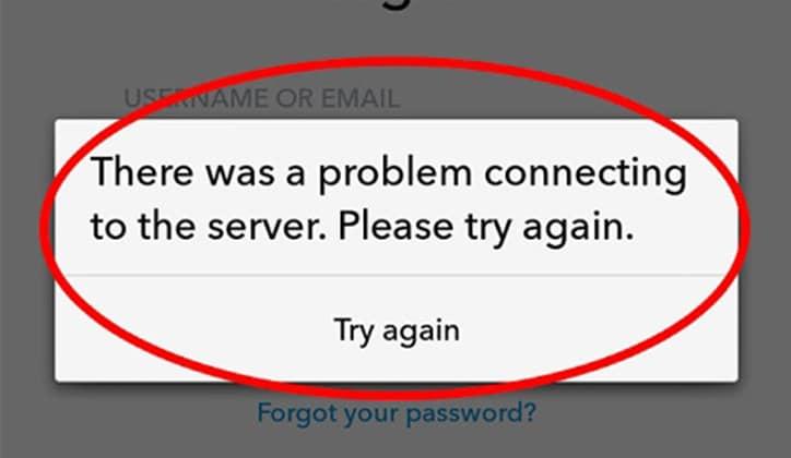 حل مشكلة فشل تسجيل الدخول وتعليق تطبيق السناب شات Snapchat 4