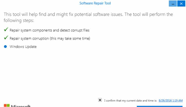 تعرف على أداة Software Repair Tool لحل مشاكل ويندوز 10 6