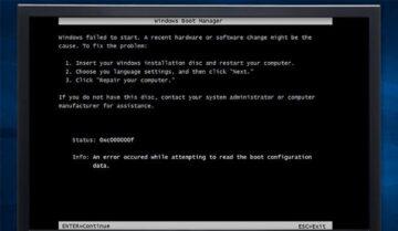كيفية حل مشكلة ظهور رسالة Error 0xc00000f عند تثبيت ويندوز 10