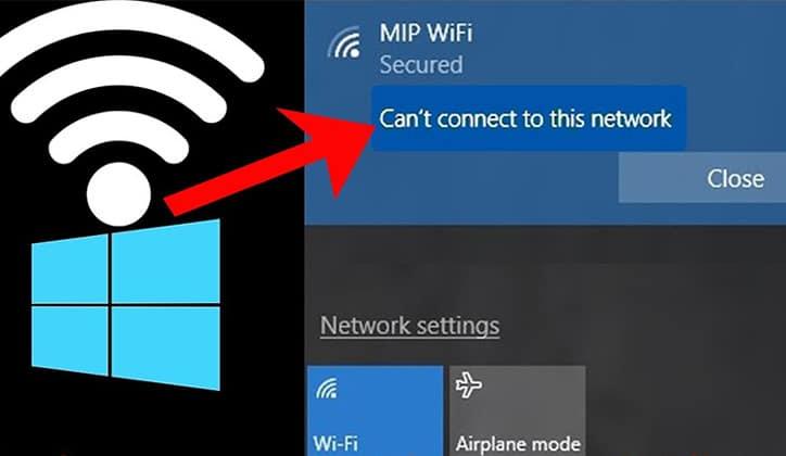 كيفية حل مشكلة Can't Connect To This Network في ويندوز Windows 10 1