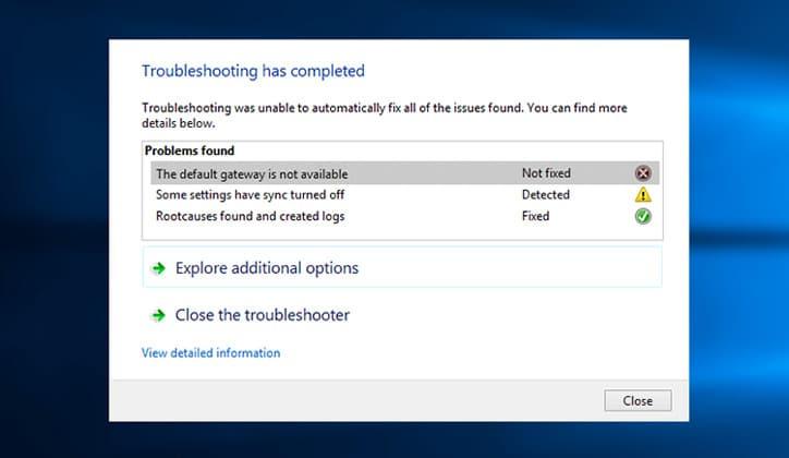 كيفية حل مشكلة The Default Gateway Is Not Available في ويندوز 10 1
