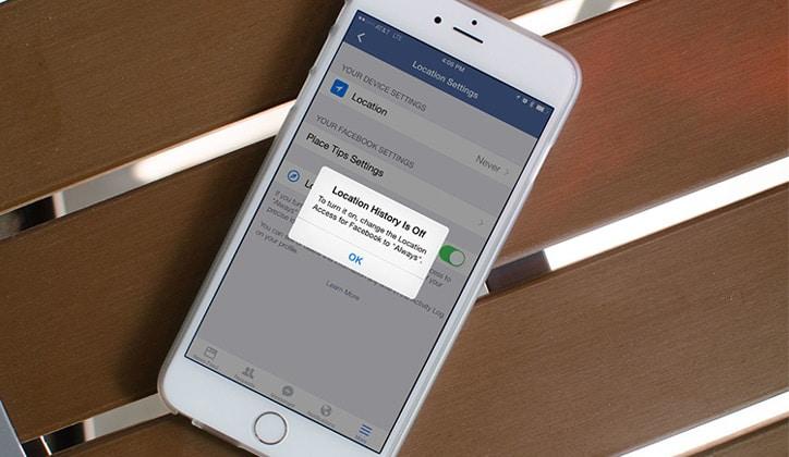 طريقة إيقاف خاصية تحديد الموقع على الفيس بوك Facebook 1