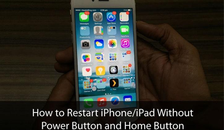 طريقة عمل ريستارت Restart للأيفون بدون زر الباور Power 1