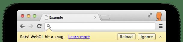 كيفية حل مشكلة Rats WebGL hit a Snag Error في متصفح جوجل كروم 2