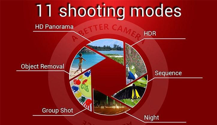 أفضل 5 تطبيقات مجانية للكاميرا لأجهزة الأندرويد 2