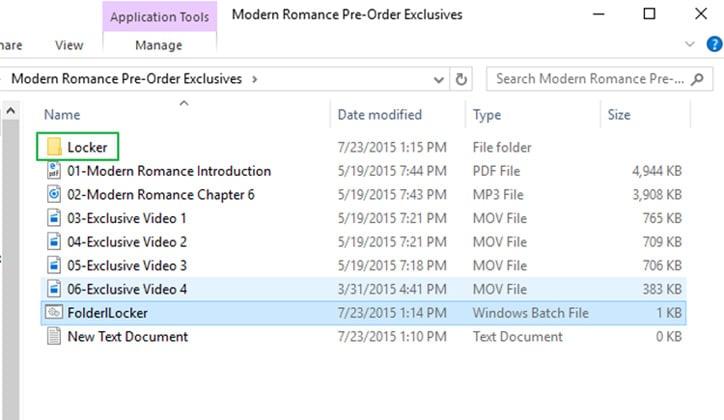 كيفية عمل كلمة سر لمجلد Folder بدون برامج على ويندوز 10 14