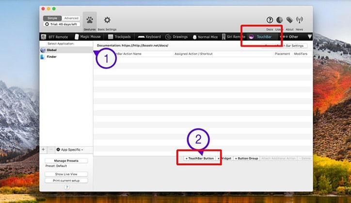 طريقة إضافة زر جديد في شريط الـ TouchBar في أجهزة الماك MacOS 3