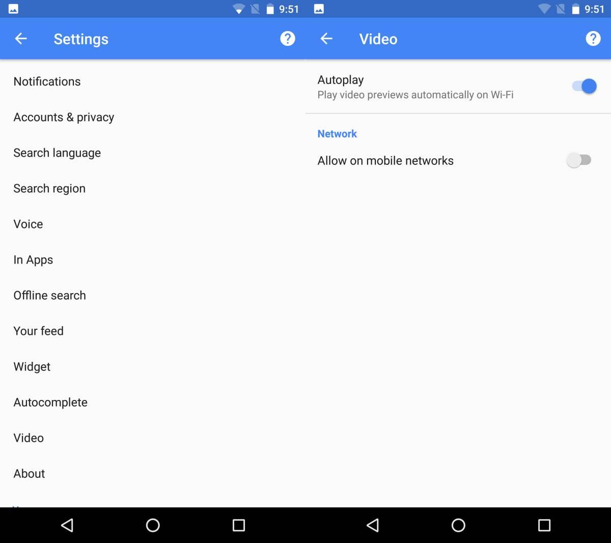 كيفية إيقاف التشغيل التلقائي للفيديوهات في نتائج البحث بجوجل على هواتف الأندرويد 3