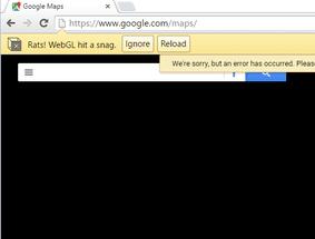 كيفية حل مشكلة Rats WebGL hit a Snag Error في متصفح جوجل كروم 3