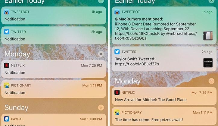 كيفية إخفاء محتوى الإشعارات على الشاشة في تحديث الأي أو إس iOS 11 3