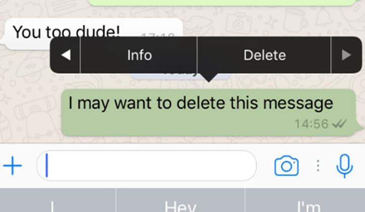 طريقة حذف رسائل الواتس آب WhatsApp من الطرفين 3