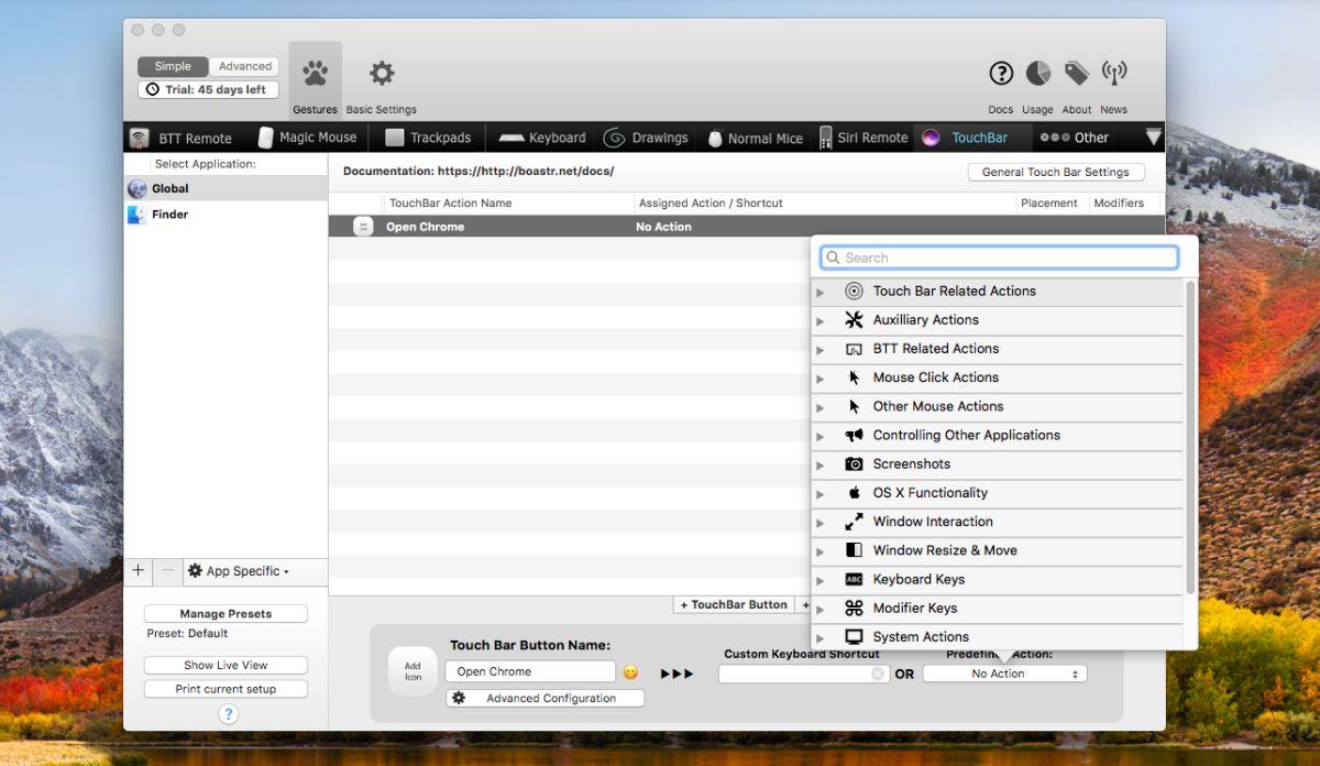 طريقة إضافة زر جديد في شريط الـ TouchBar في أجهزة الماك MacOS 4