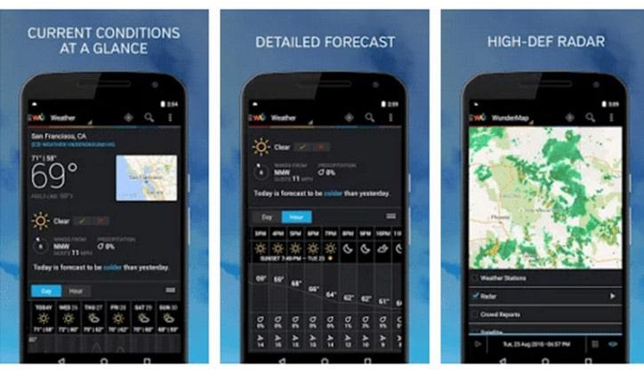 أفضل 4 تطبيقات لمعرفة أحوال الطقس Weather لأجهزة الأندرويد 4