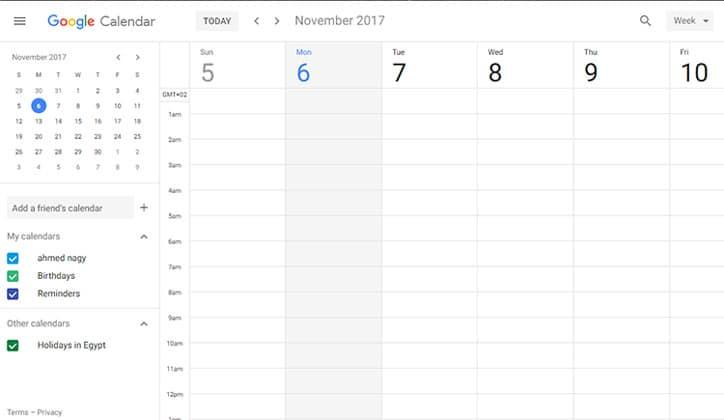 أحصل الأن على تحديث تقويم جوجل الجديد Google Calendar على الويب 5
