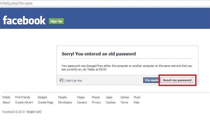كيفية استرجاع حساب الفيس بوك فيسبوك المسروق 5