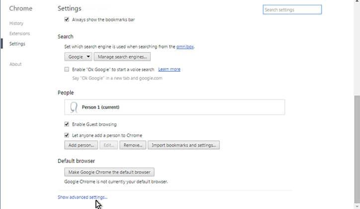 كيفية حل مشكلة الشاشة البيضاء في متصفح جوجل كروم Google Chrome 5