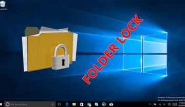 كيفية عمل كلمة سر لمجلد Folder بدون برامج على ويندوز 10 3