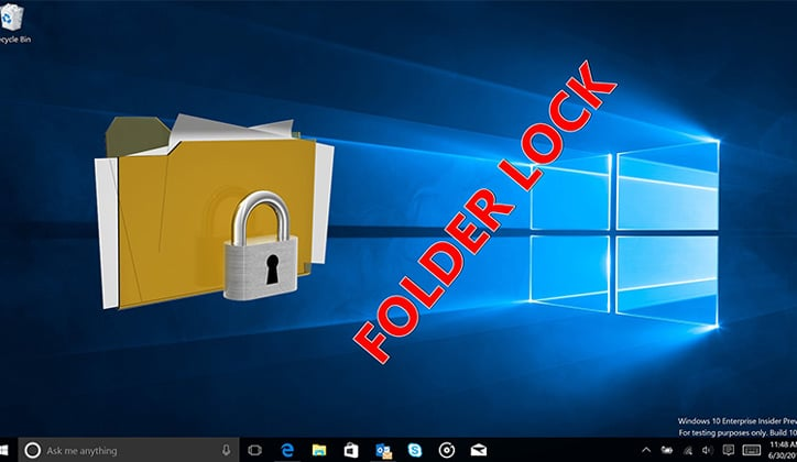 كيفية عمل كلمة سر لمجلد Folder بدون برامج على ويندوز 10 1