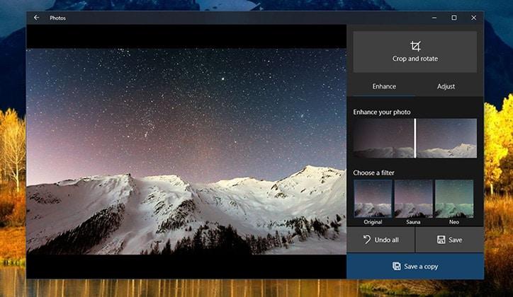 كيفية تحسين جودة الصور باستخدام برنامج Photos App في ويندوز 10 2