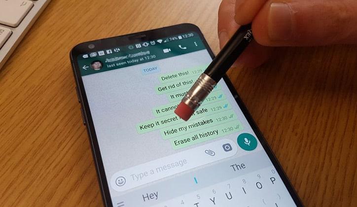 طريقة حذف رسائل الواتس آب WhatsApp من الطرفين 1