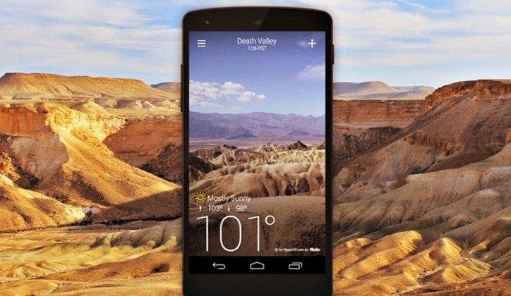 أفضل 4 تطبيقات لمعرفة أحوال الطقس Weather لأجهزة الأندرويد 1