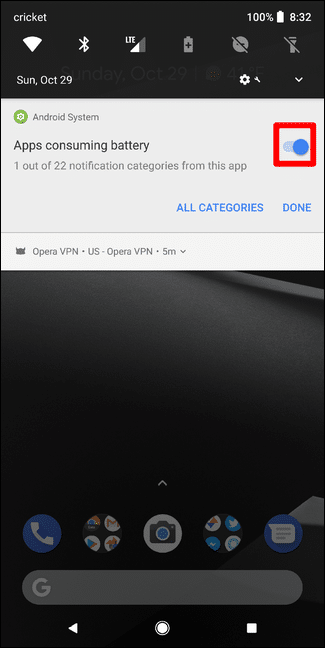 """كيفية إيقاف إشعارات """"Is Running in the Background"""" و """"Is Using Battery"""" في تحديث أندرويد أوريو الجديد 3"""