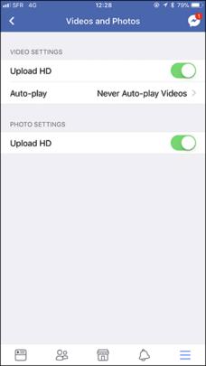 كيفية رفع الصور والفيديوهات بأعلى جودة على فيسبوك للأيفون والأندرويد 4