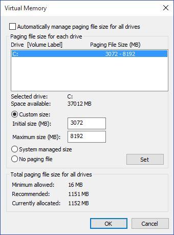 أفضل طريقة لزيادة حجم الرامات على جهاز الكمبيوتر لنظام ويندوز 10 5