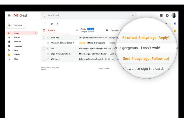طريقة الحصول على التصميم الجديد لجوجل ميل 2018 وشرح المميزات الجديدة 3