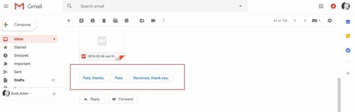 مميزات جديدة تصميم Gmail الجديد الردود-الذ�